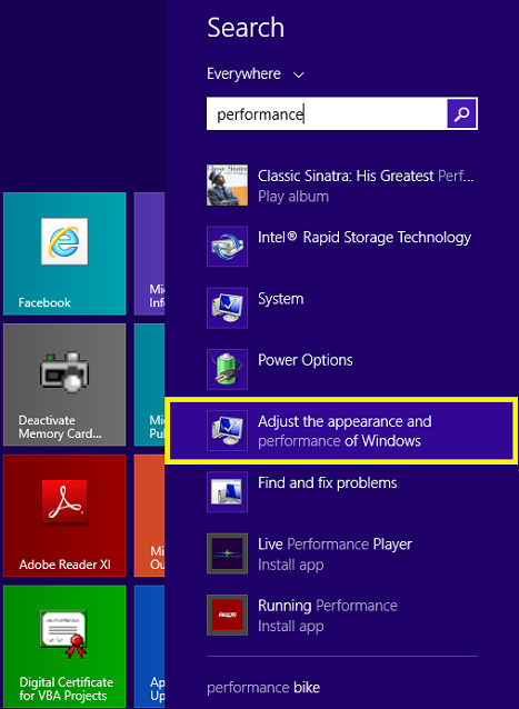remove animnations windows 8 tip
