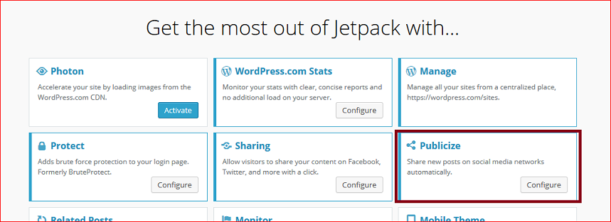 automate social media Jet Pack