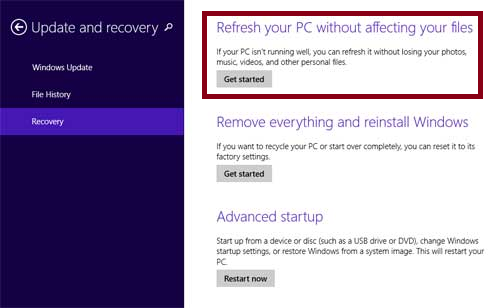 restore settings windows 8 tip