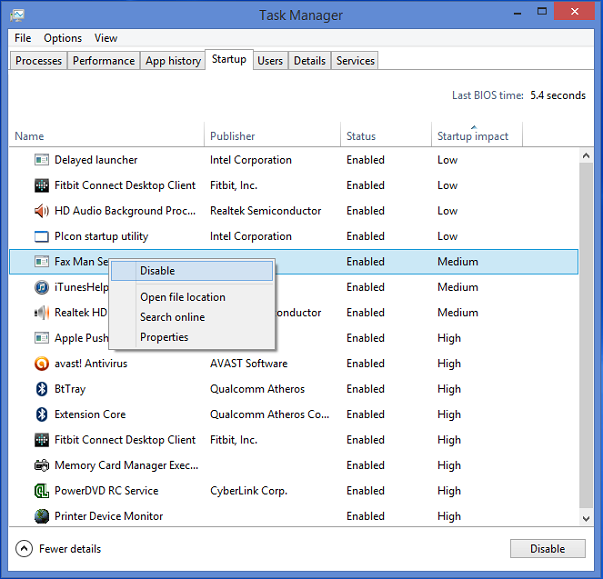 startup programs windows 8 tip