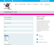 design of contact page
